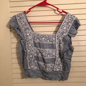 American Eagle square neck crop top